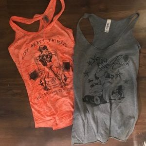 Tops - Fit chick tank tops lot of 2